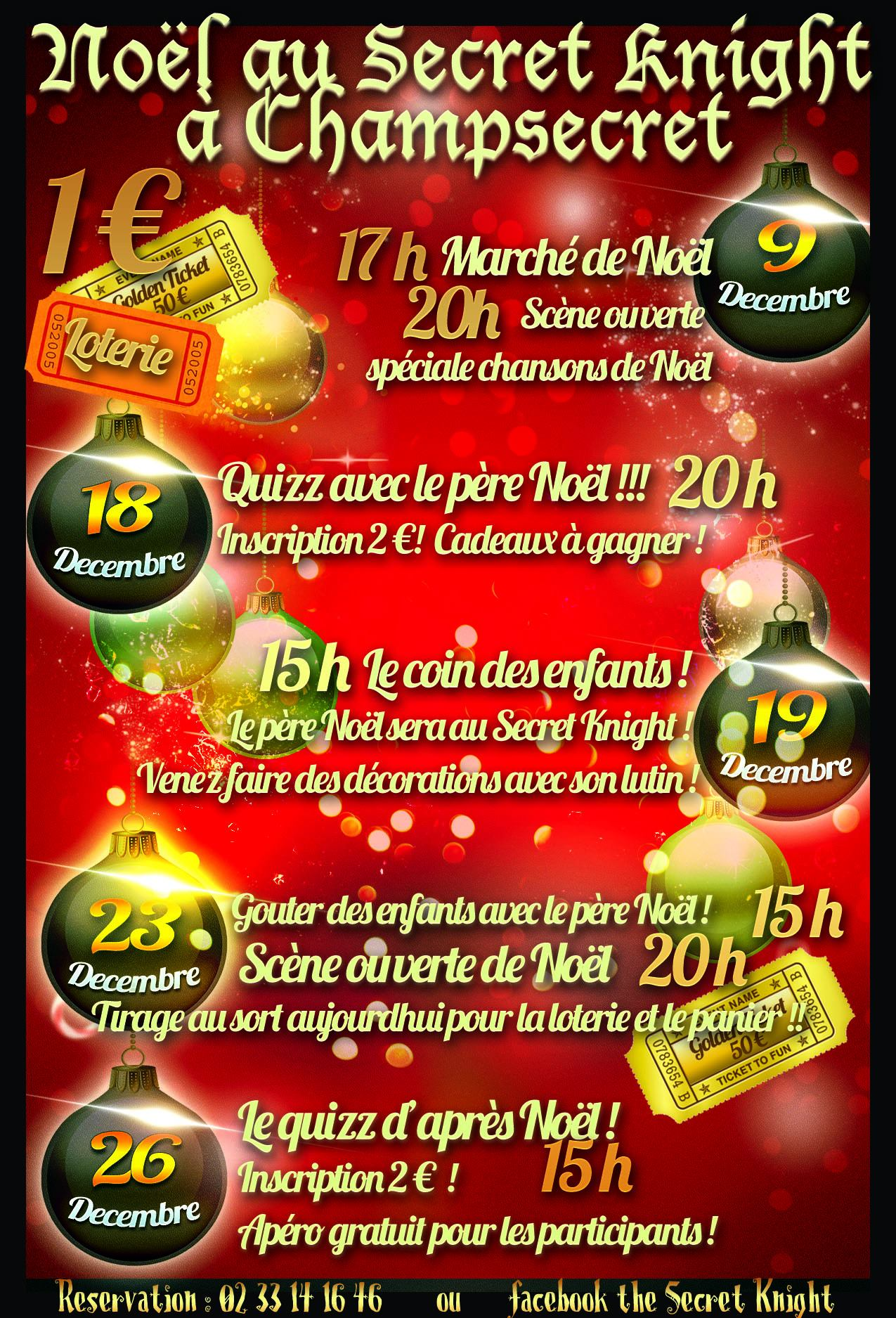 Les fêtes de Noël au Secret Knight !